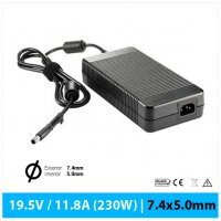 CARGADOR DELL COMPATIBLE | 19.5V / 11.8A | 7.4 x 5.0mm | 230W