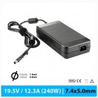 CARGADOR DELL COMPATIBLE | 19.5V / 12.3A | 7.4 x 5.0mm | 240W