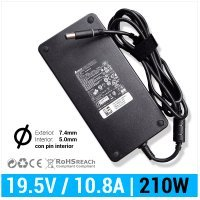 CARGADOR DELL COMPATIBLE | 19.5V / 10.8A | 7.4 x 5.0mm | 210W