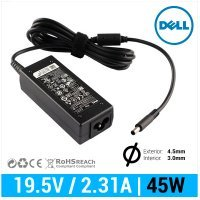 CARGADOR DELL ORIGINAL | 19.5V / 2.31A | 4.5 x 3.0mm | 45W