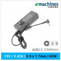 CARGADOR EMACHINES COMPATIBLE | 19V / 3.42A | 5.5 x 1.7mm | 65W