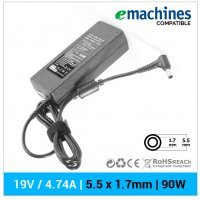 CARGADOR EMACHINES COMPATIBLE | 19V  / 4.74A | 5.5 x 1.7mm | 90W
