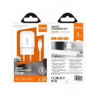 CARGADOR SMART CHARGER 2.1A 10W + TURBO CABLE MICRO USB 1.2M | BLANCO