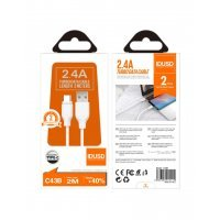 TURBO CABLE TIPO C 2.0M 2.4A | BLANCO