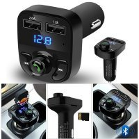 KIT DE COCHE MANOS LIBRES / BLUETOOTH / TRANSMISOR FM / REPRODUCTOR MP3 / CARGADOR USB x2