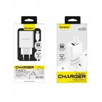 CARGADOR 2 PUERTOS 5V / 2.4A CON CABLE APPLE LIGHTNING VANWOR EU-022